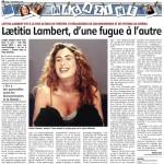 Laetitia Lambert, d'une fugue à l'autre